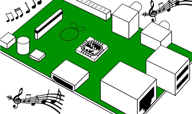 RasberryPi Clipart mit UNHB Logo auf zentraler CPU